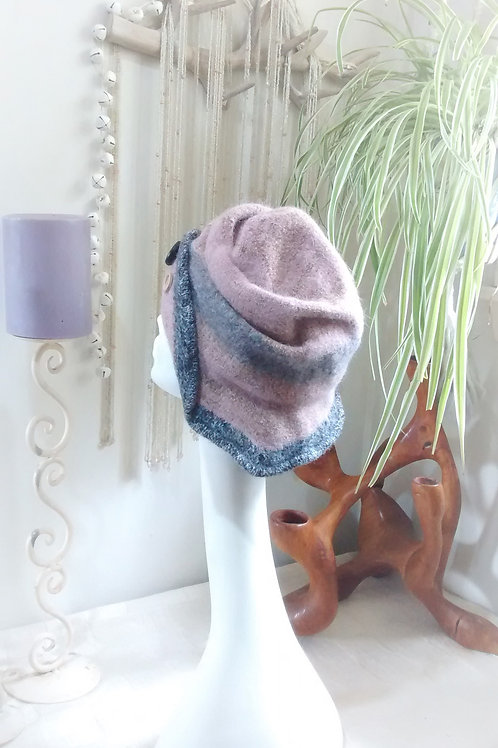 Roses - felted hat
