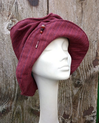 Ruby Red - fabric hat