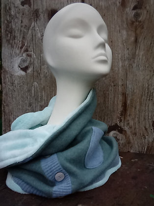 Mist - oversized recycled snood