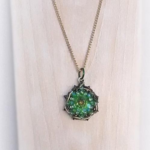 Starlight beaded pendant