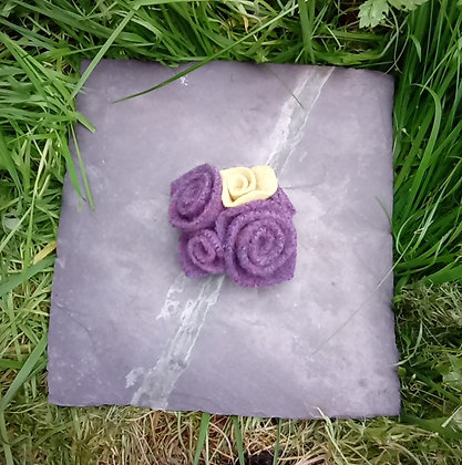 Purple felt Brooch