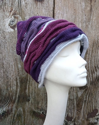 Silver lining - knitted hat