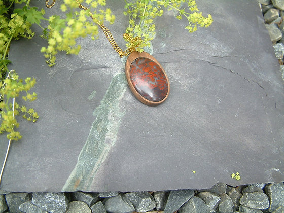 Embers - Scottish red jasper pendant