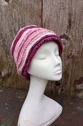 Raspberry Ripple - knitted hat