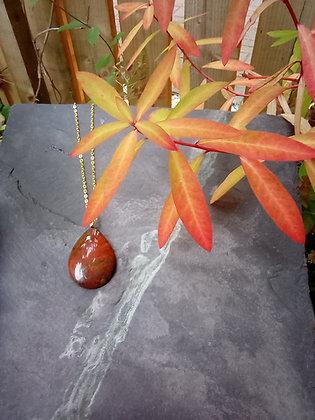 Autumn forest - Scottish jasper pendant