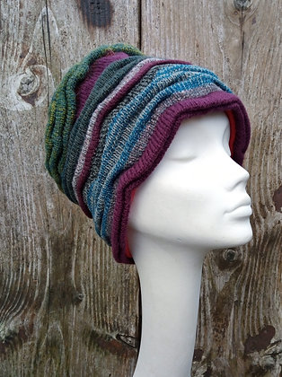 Splash of Teal - knitted hat