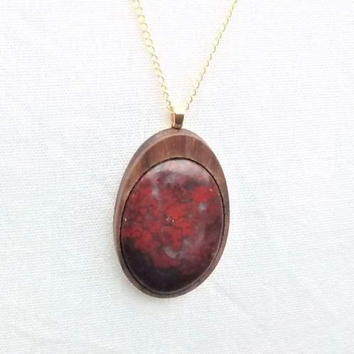 Embers  - Scottish red jasper pendant
