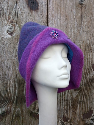 Purple Pixie - felted hat