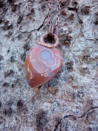 Agate Circles - Scottish agate pendant