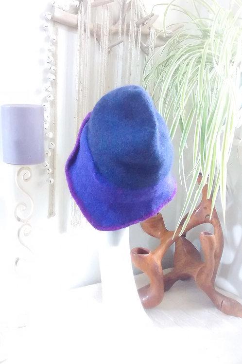 Purple Pixie - felted hat