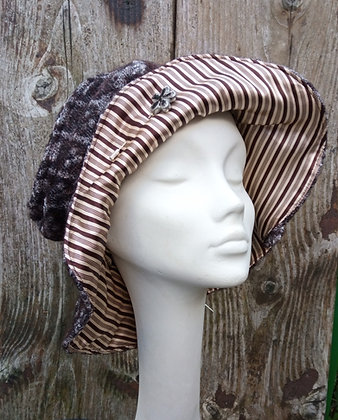 Rustic step pattern - fabric hat