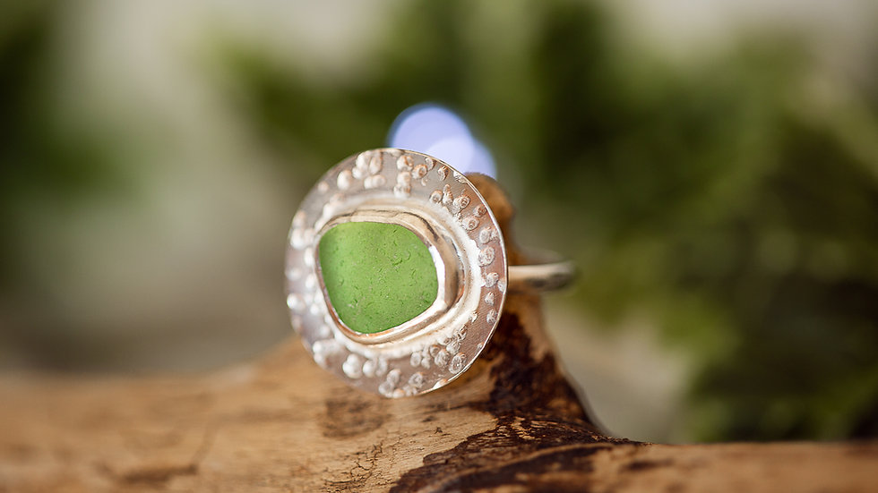Whitby Seaglass Statement Ring