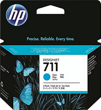 HP 711 29ml Cyan DesignJet Ink Cartridge