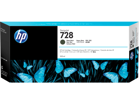 HP 728 Matte Black 300ml Ink Cartridge