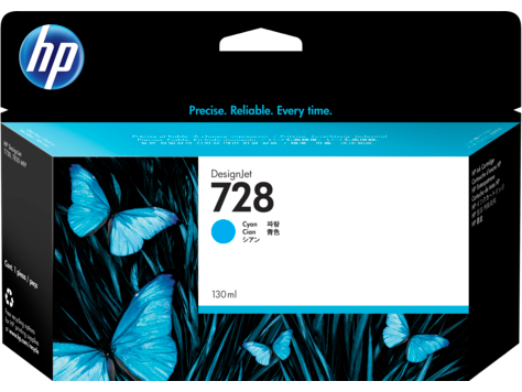 HP 728 Cyan 130ml Ink Cartridge