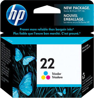 HP 22 Tri-Colour Ink Cartridge