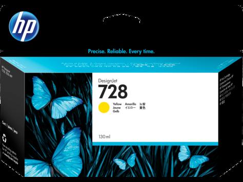 HP 728 Yellow 130ml Ink Cartridge