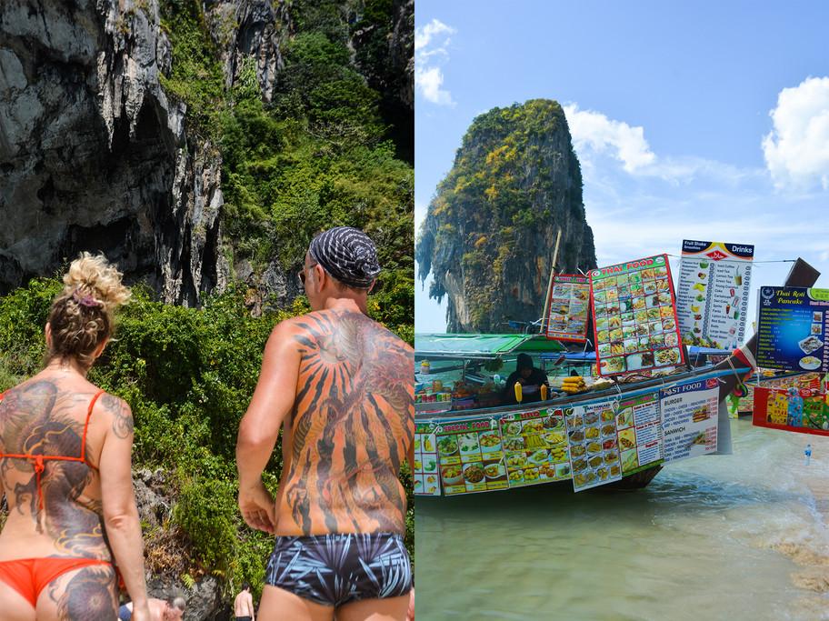 5- Left- Tattoos at Phranang Beach ; Rig