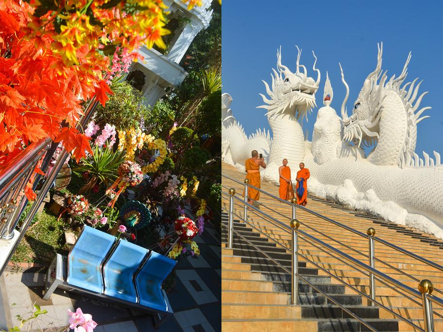 9- Left- Artificial Arranges at Wat Phra