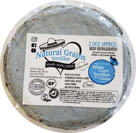 """Butterfly Pea White Corn Tortilla ONLY for Chips 