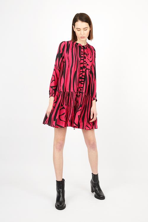 Rose Leopard Print Silk Top