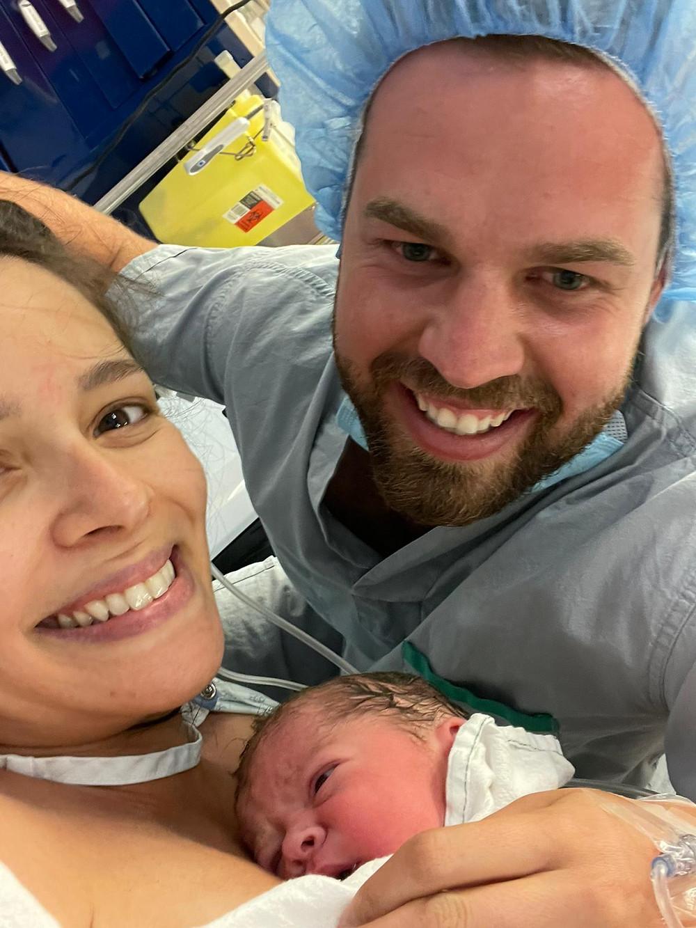 Unmedicated breech birth using Christian Hypnobirthing