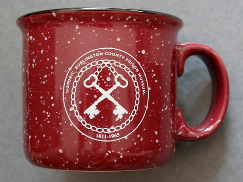 Enamel mug with logo