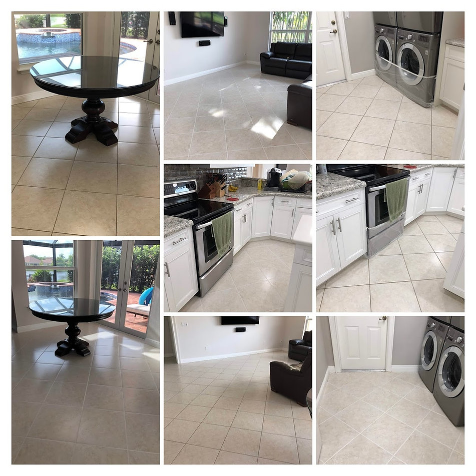 Tile & Grout Clean, Sealing and Re-Color