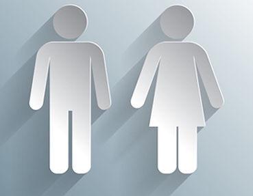 Symbodlbild -  Frau, Mann Hygiene und Gebäudereinigung
