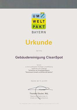Umweltpakt Bayern Gebaudereinigung München