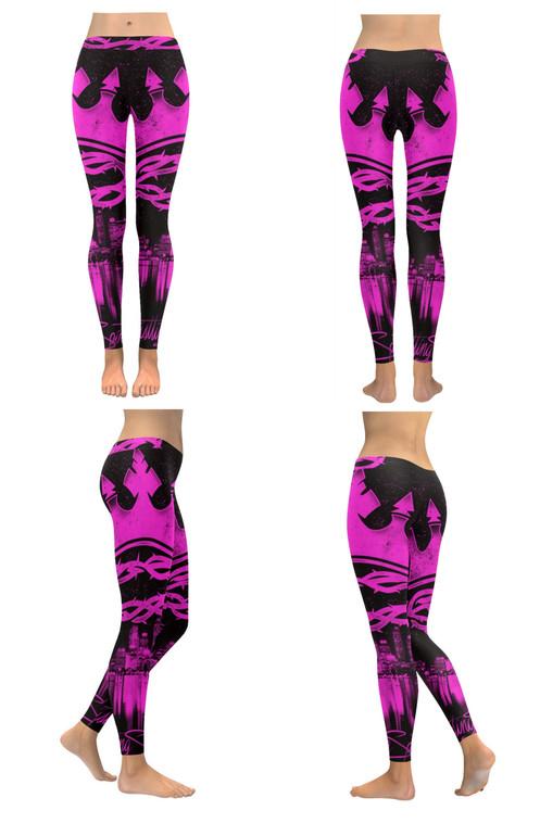5578712370984 Pink Crown Low Rise Leggings