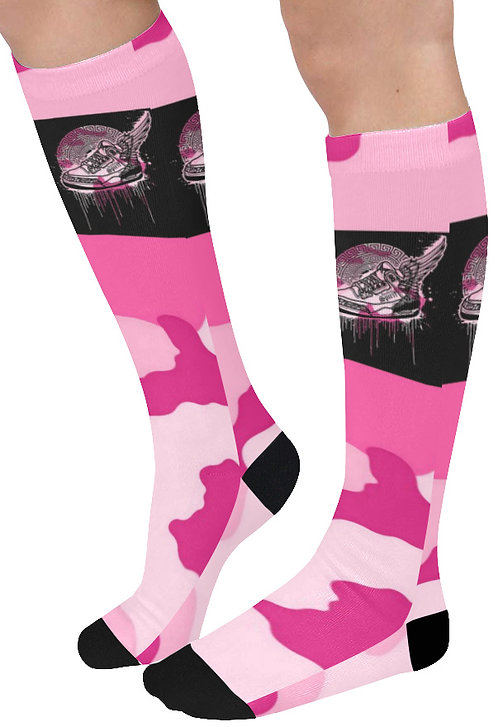 Footsteps Pink Cotton Candy Knee High Socks (Qty 1)
