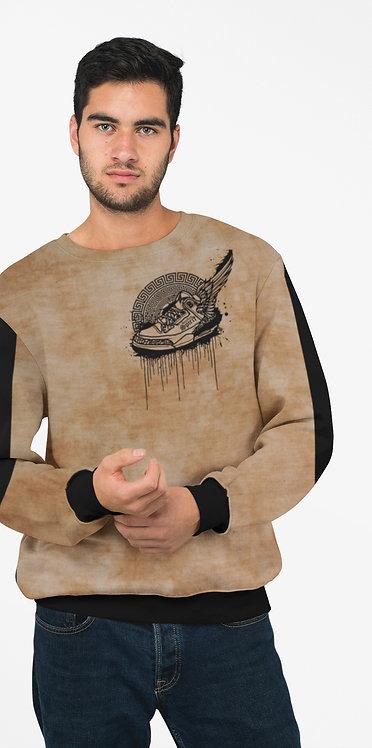 Footsteps Tie Dye Sand Sweatshirt