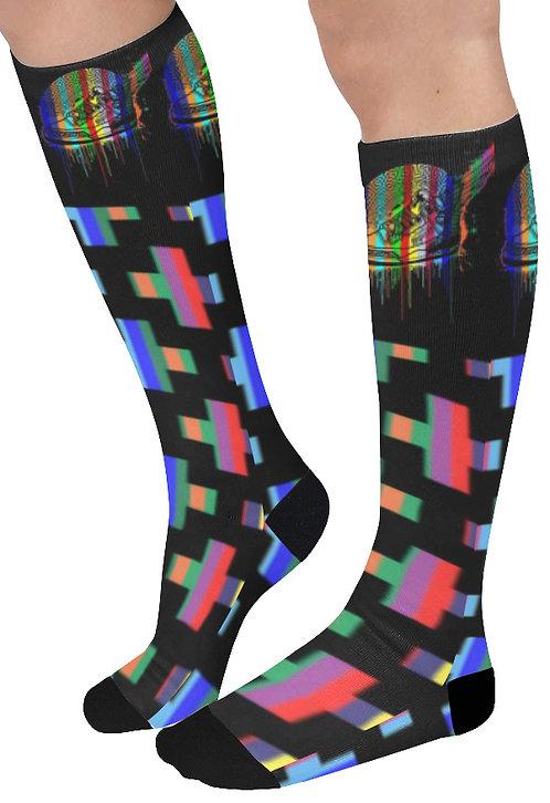Footsteps Cross MultiColor Knee High Socks (Qty 1)