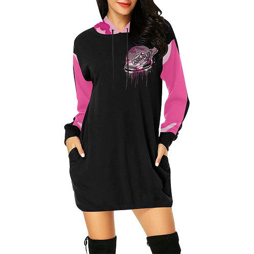 Footsteps Pink Cotton Candy Hoody Dress