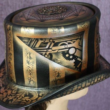 Airbrushed & Handpainted Top Hat (2014)
