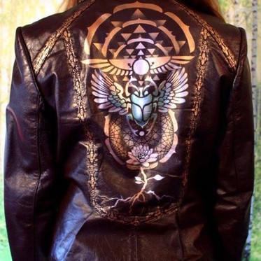 Airbrushed Leather jacket (2013)