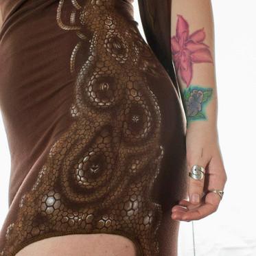 Custom Airbrushed & Handpainted Dress (2011)