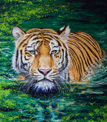 Swimming tiger (Sold)