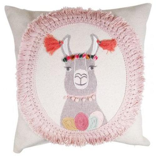 Llama Cushion Beige