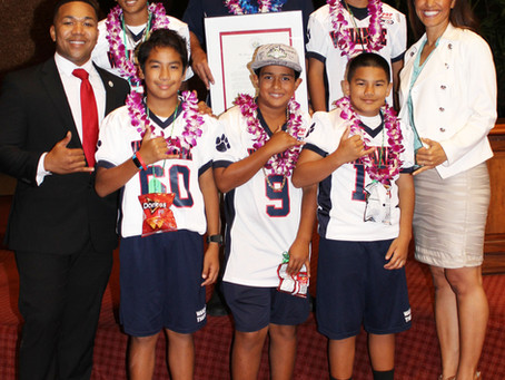 Rep. Tupola Congratulates the Waianae Tigers HR 154