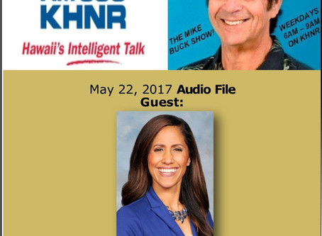 The Mike Buck Show with guest Rep. Tupola May 22, 2017 -Audio Only