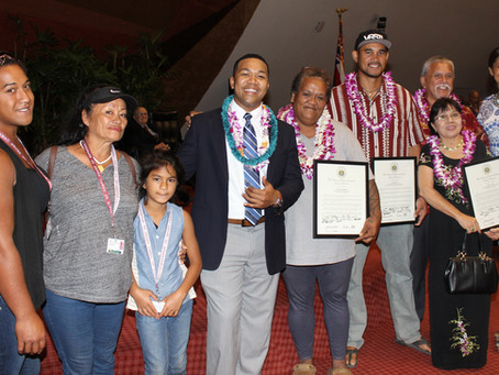 Rep. Tupola Addresses Congratulates the 2016 Hawaii Healthcare Heroes