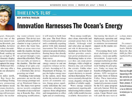 Innovation Harnesses The Ocean's Energy