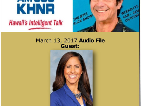 The Mike Buck Show with guest Rep. Tupola March 13, 2017 -Audio Only