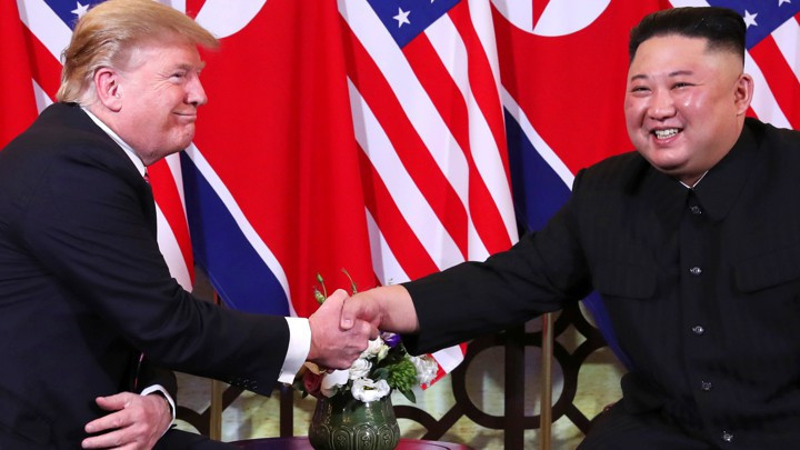 U.S. President Donald Trump meets with North Korean leader Kim Jong Un in Hanoi
