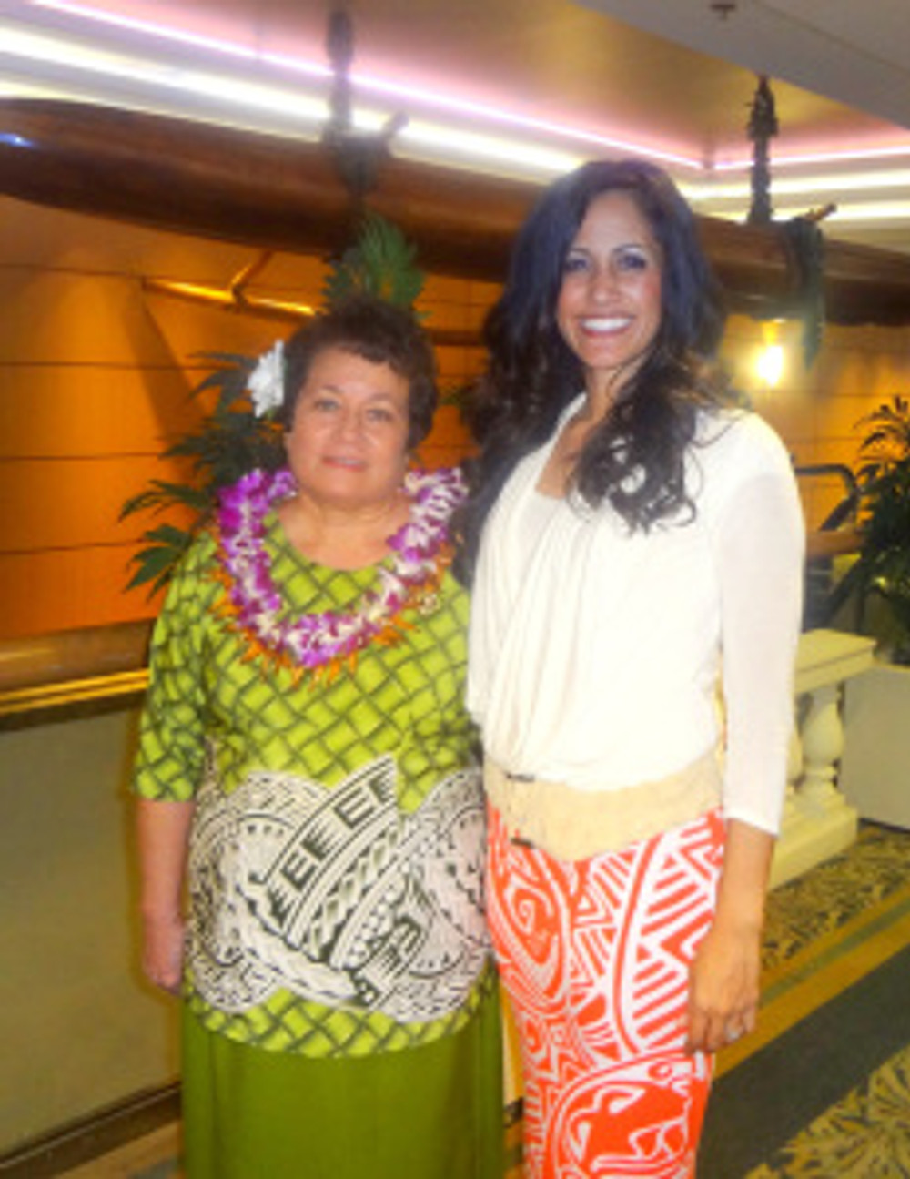 Congresswomam Aumau Amata and Rep Tupola