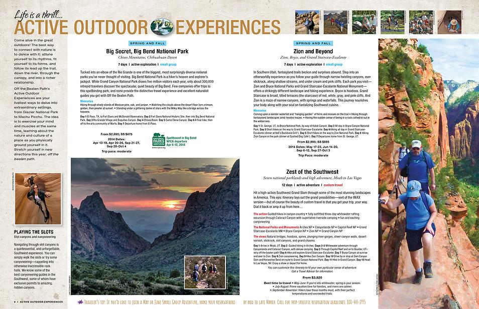 Travel Catalog Trip Spread