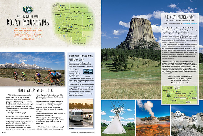 Travel Catalog Trips Spread