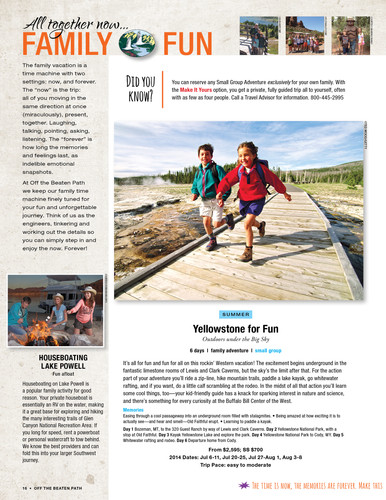 Travel Catalog Section Start with Trip